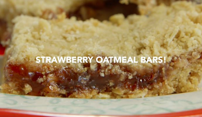 Strawberry Oatmeal Bars